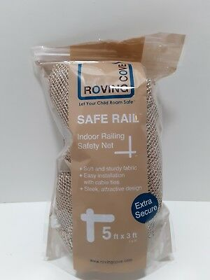 Roving Cove Indoor Railing Safety Net 5 X 3 Ft, Almond FREE SHIP