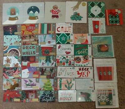STARBUCKS Holiday Collectible Gift Card Christmas - LOT of 50 Cards - 2018