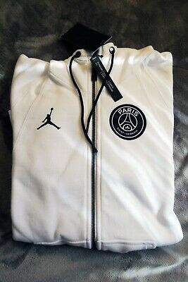 d861e5cf4 JORDAN X PSG Wings Full-Zip Hoodie Sz S White Paris Saint-Germain IN ...