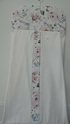 Nappy Stacker Floral Savannah Rose Diaper Holder 100% Cotton  Handmade