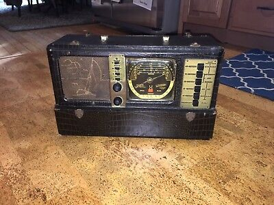 RARE Zenith Deluxe Model 7G605 Trans-Ocean Clipper Shortwave Bomber Tube Radio