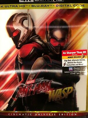 Antman And The Wasp(4K Ultra+Blu-Ray+Digital)W/3D Slipcover New