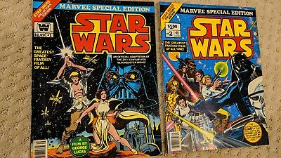 Star Wars #1 & #2 1977 Marvel Special Edition Large Editions
