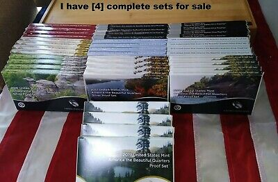 Complete set of Silver America the Beautiful Quarters 2010 Thru 2019 **10 Sets**