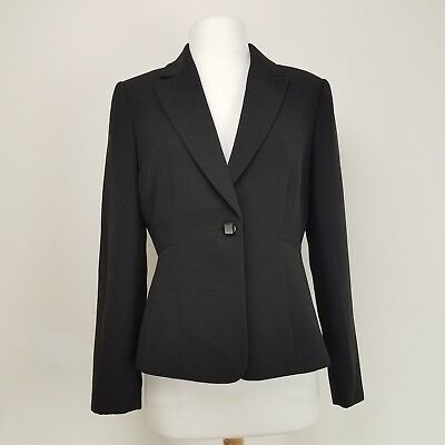 53cb9b698ce5c Tahari Arthur S. Levine Women's Blazer Suit Jacket One button Black Lined  Sz 6