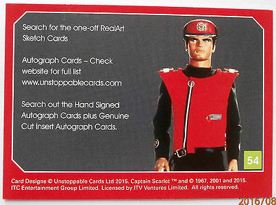 CAPTAIN SCARLET - Individual Trading Card #54, Checklist - Unstoppable Cards