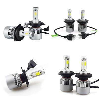 2 x H4 led 72W 8000LM S2 Headlight Car Hi/Lo Beam Auto Bulb 6000K All in One Kit