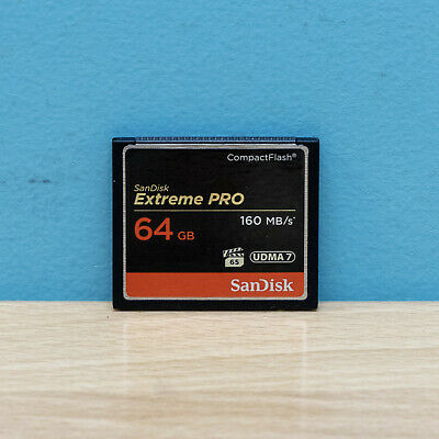 SanDisk 64GB CF Extreme Pro Compact Flash Memory Card 160MB/s SDCFXPS-064G UDMA7