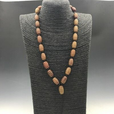 pretty chinese antique jade handmade necklace.    a711