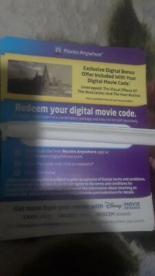 """Disney's  """" The Nutcracker and the Four Realms"""" Digital Code taken from blu ray"""