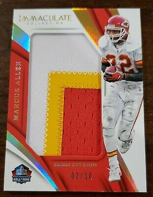2018 Panini Immaculate Marcus Allen Jumbo Patch #02/10 Chiefs