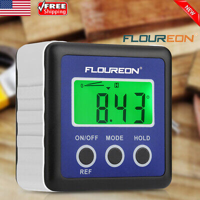 Digital Bevel Level Box Gauge Meter LCD Backlight Angle Finder Protractor Magnet