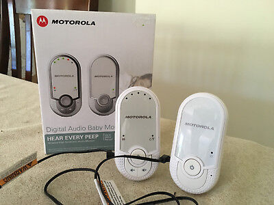 Motorola MBP11 Digital Audio Baby Monitor White