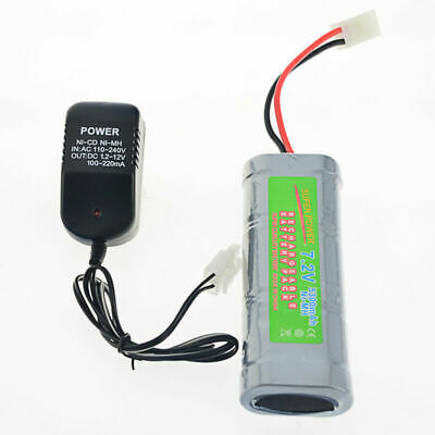 1 pcs 7.2V 5300mAh Ni-Mh rechargeable battery pack RC Tamiya Plug + Charger USA
