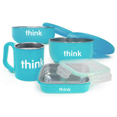 Thinkbaby Feeding Set - BPA Free - Light Blue