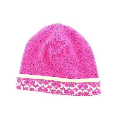 7d86cf56cdf Coach hat Signature Pink White Woman Authentic Used Y5786
