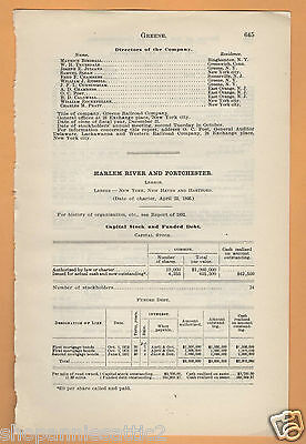 1902 NY RR report HARLEM RIVER & PORTCHESTER RAILROAD New Rochelle New York NYC