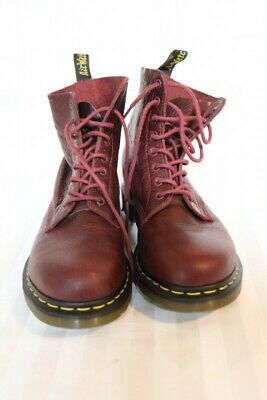 1dc05c3f2a4d7 WOMEN'S DR MARTENS Pascal 8Eye Boots Cherry Red 10US 8UK DMs SOFT ...