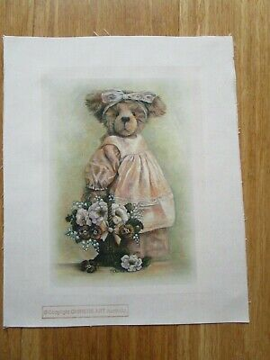 Billi Anna Bear Silk Print Kit Need To Embroider On A Small Amount Of The Print.
