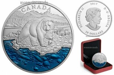 Master Club Silver COIN #4 - Grizzly Bear with Blue Enamel $20