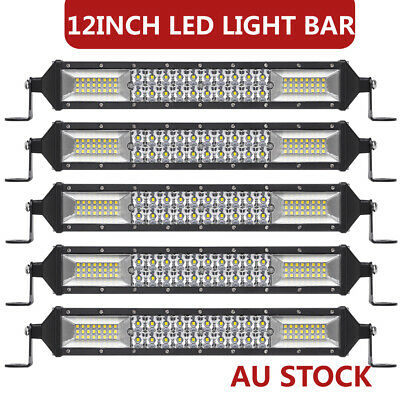 10PC 12Inch Dual-Row LED Work Light Bar Combo Driving Offroad 4WD Lamp PK 10/15'