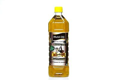 Cold Pressed Organic Sesame Oil 1Lit / Extra Virgin Wood Churned Sesame Oil