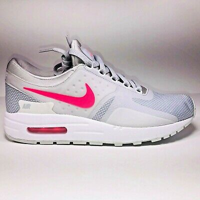 promo code 27106 f4929 Nike Air Max Zero GS Grey Pink  White Athletic Running Shoe 881229-003 Size