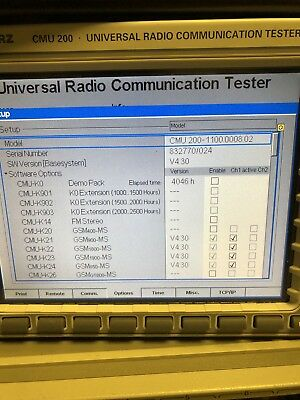 Rohde & Schwarz R&S CMU 200 Radio Communication Testeur