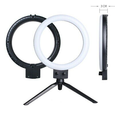 """7"""" LED Ring Light Dimmable Photography 5500K Photo Studio Video Lamp for Camera"""