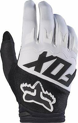 Fox Racing Dirtpaw Gloves White Adult Large L Motorcycle Off Road MX ATV