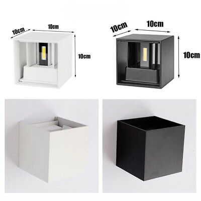 Sconces Wall Light 12W LED Cube White Black Up Down Warm/Cool Night Path Bedside