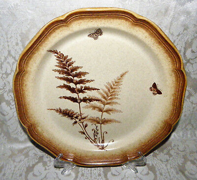 "Mikasa Whole Wheat MEADOW FERN Lot of 4 Dinner Plates 10-3/4"" E8012 Excellent"