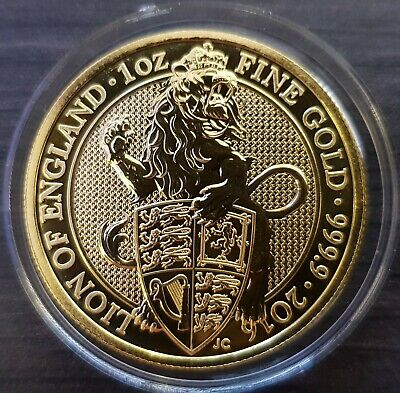 1oz Gold Coin - Queens Beasts - The Lion