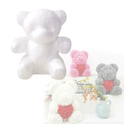 White Foam Bear Creative Handmade Flower Arrangement DIY Bubble Rose Bears