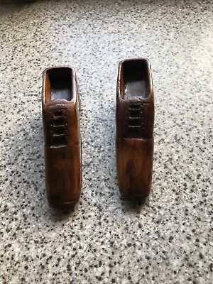 Wooden Carved Pair Of Shoes