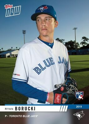 2019 Topps NOW Road to Opening Day Ryan Borucki Toronto Blue Jays RC