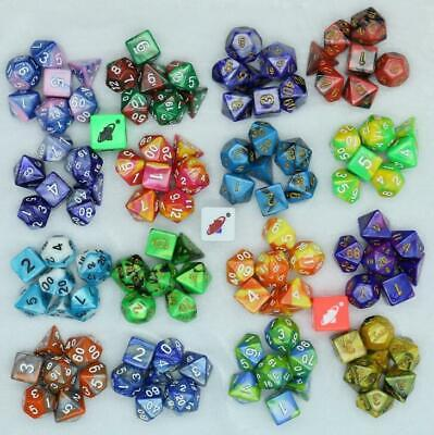 7pcs/Set Polyhedral DND RPG MTG Party Game Dungeons & Dragons Dice D4-D20 Random