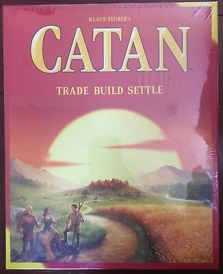 Catan Board Game 5th Edition - New! Sealed Trade, Build, Settle - Klaus Teuber