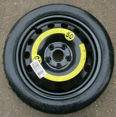 "Vw Golf Mk5 Audi A3 8P 16"" Space Saver Spare Wheel And T125 70 R16 96M Tyre. #57"