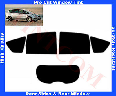 Pre Cut Window Tint Ford S-Max 5D  2006-2011 Rear Window & Rear Sides Any Shade