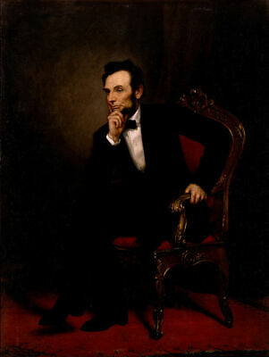 Handmade Oil Painting repro George Peter Alexander Healy Abraham Lincoln, 1869