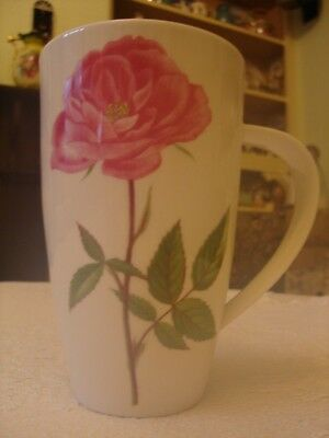 Rare large Dunoon bone china Rose Garden mug designed by Kathy Pickles