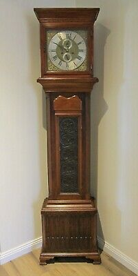 ANTIQUE GEORGIAN OAK LONGCASE GRANDFATHER CLOCK BY J Beesly of Manchester C1770