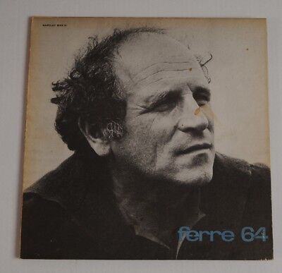 disco LEO FERRE' 64  I^ PRESS 1964  LP 33  Barclay ‎– 80 218 vinile