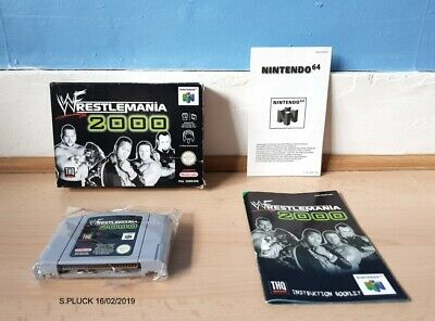 WWF Wrestlemania 2000 N64 Boxed with Manual Good Con