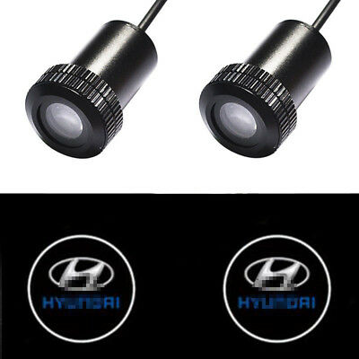 Wired Auto Doors Light for Hyundai Car LED Logo Projector Shadow Laser Light DIY