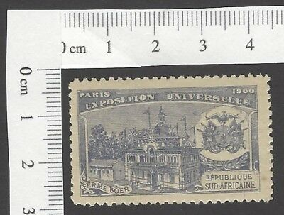 South Africa Pavilion 1900 Universal Exposition Paris France poster stamp MH