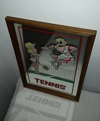 WEG sports bar mirror 'Tennis' cartoon style