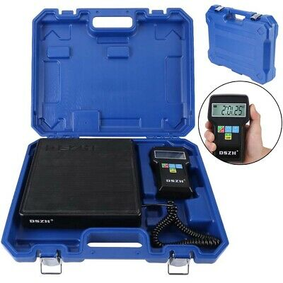 Compact Digital Electronic Refrigerant Charging Scale 220lbs for HVAC With Case