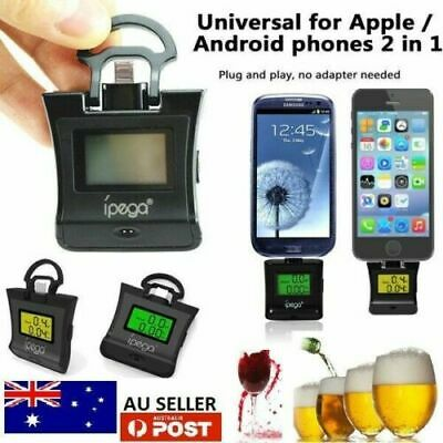 new Digital Alcohol Tester Breathalyse Breath Tester Blue LCD and mobile support